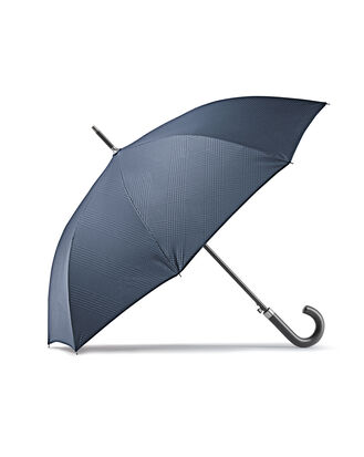 Navy Prince of Wales check umbrella