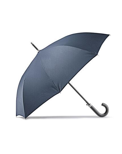Navy Prince of Wales check umbrella
