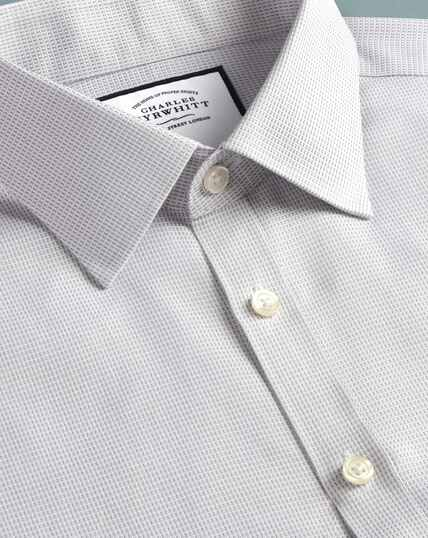 Super slim fit non-iron dash weave grey shirt