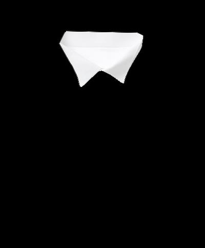Chemise de soirée en piqué à col cassé et plastron  - Blanc