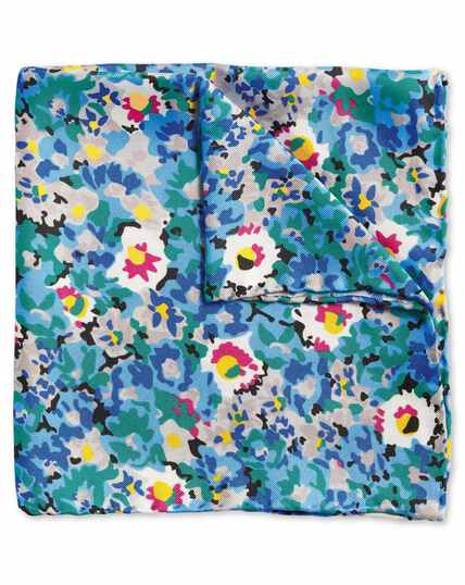 Multi floral print pocket square