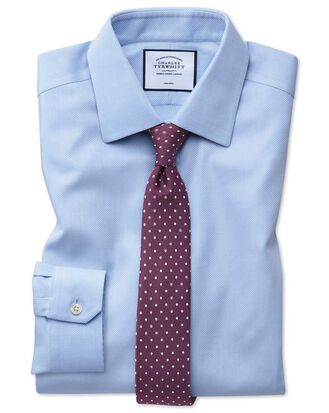 Super slim fit non-iron sky blue arrow weave shirt
