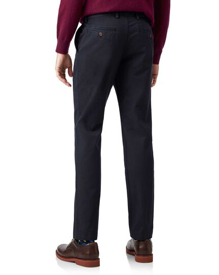 Navy flat front soft washed chinos