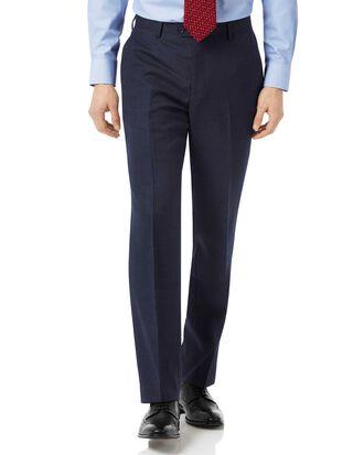 Navy classic fit jaspe business suit pants