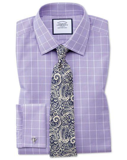 Navy and white silk paisley print English luxury tie