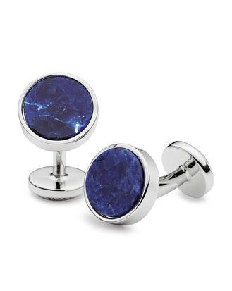 Sodalite stone cufflinks