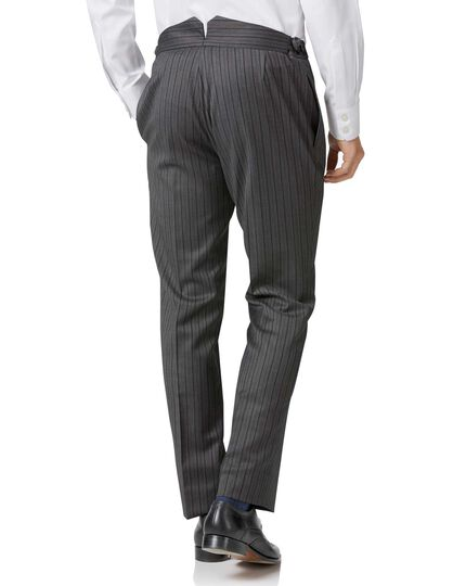 Charcoal stripe slim fit morning suit pants