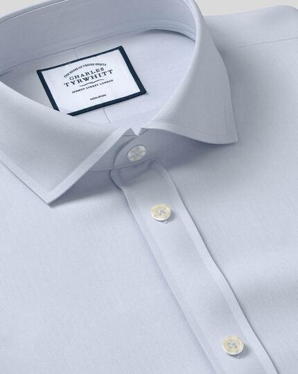 Spread Collar Non-Iron Twill Shirt - Grey