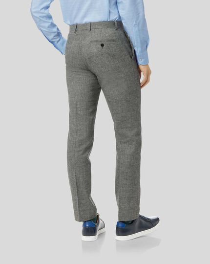 Wool Cotton Linen Suit - Grey
