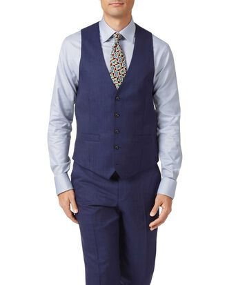 Indigo adjustable fit hairline business suit vest