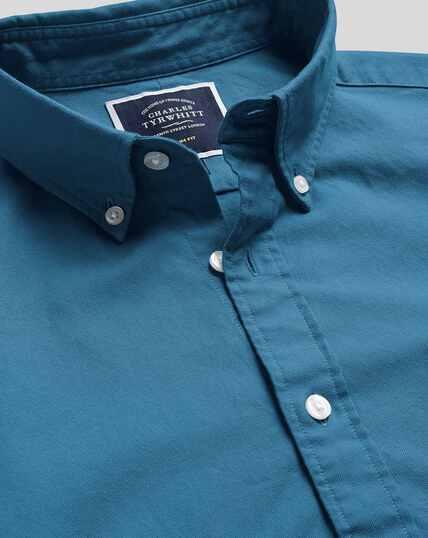 Oxfordhemd mit Button-down-Kragen - Blaugrün