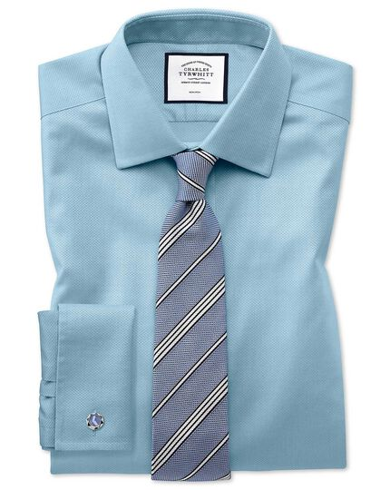 Blue silk plain grenadine Italian luxury tie