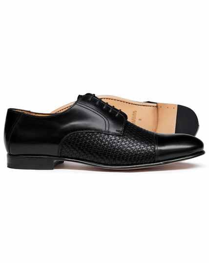 Black woven Derby shoe