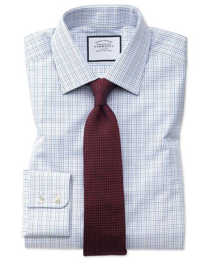 Multi Check Egyptian Cotton Shirt - Blue