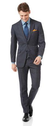Costume business bleu acier jaspé slim fit