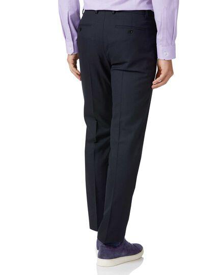Pantalon de costume business bleu nuit en laine slim fit