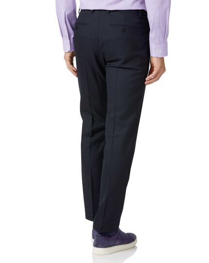 Midnight blue slim fit merino business suit trousers