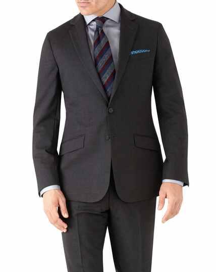 Charcoal slim fit performance suit jacket