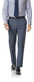 Airforce blue slim fit merino business suit