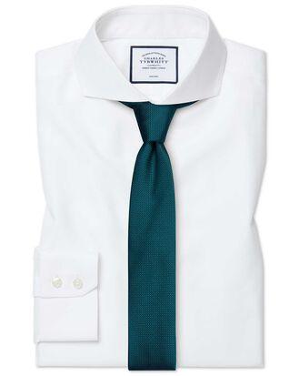 Slim fit extreme cutaway non-iron twill white shirt