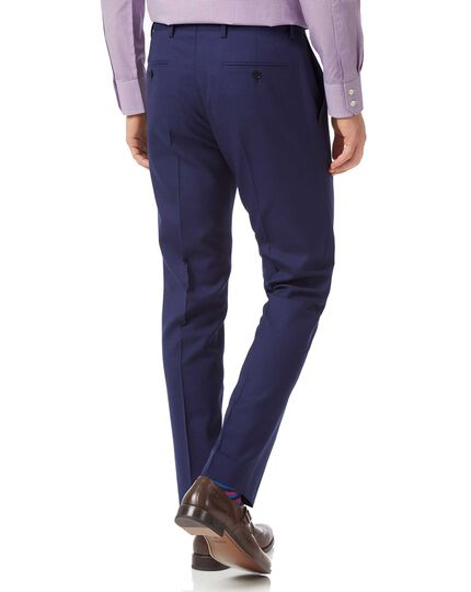 Pantalon de costume business bleu roi en laine mérinos slim fit