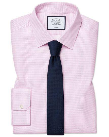 Chemise à motif à effet tirets rose super slim fit sans repassage