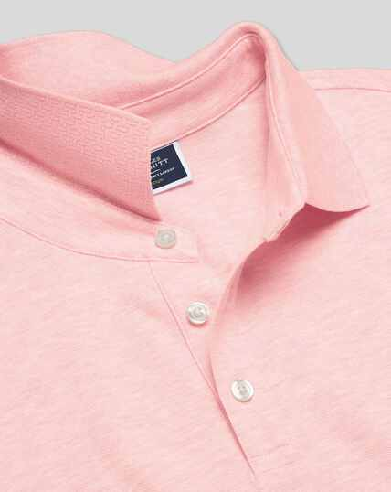 Tyrwhitt Pique Polo - Light Pink Marl