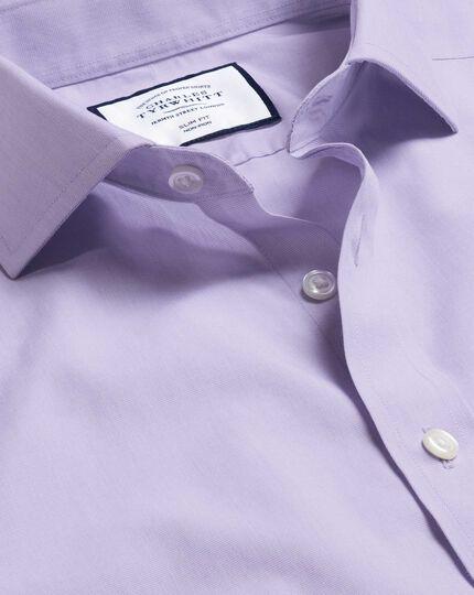 Cutaway Collar Non-Iron Tyrwhitt Cool Poplin Shirt - Lilac