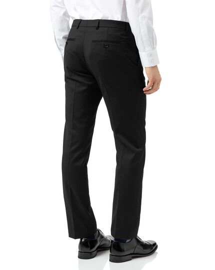 Black extra slim fit Italian natural stretch suit pants