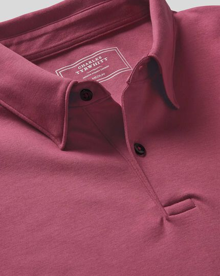 Smart Jersey Polo - Pink