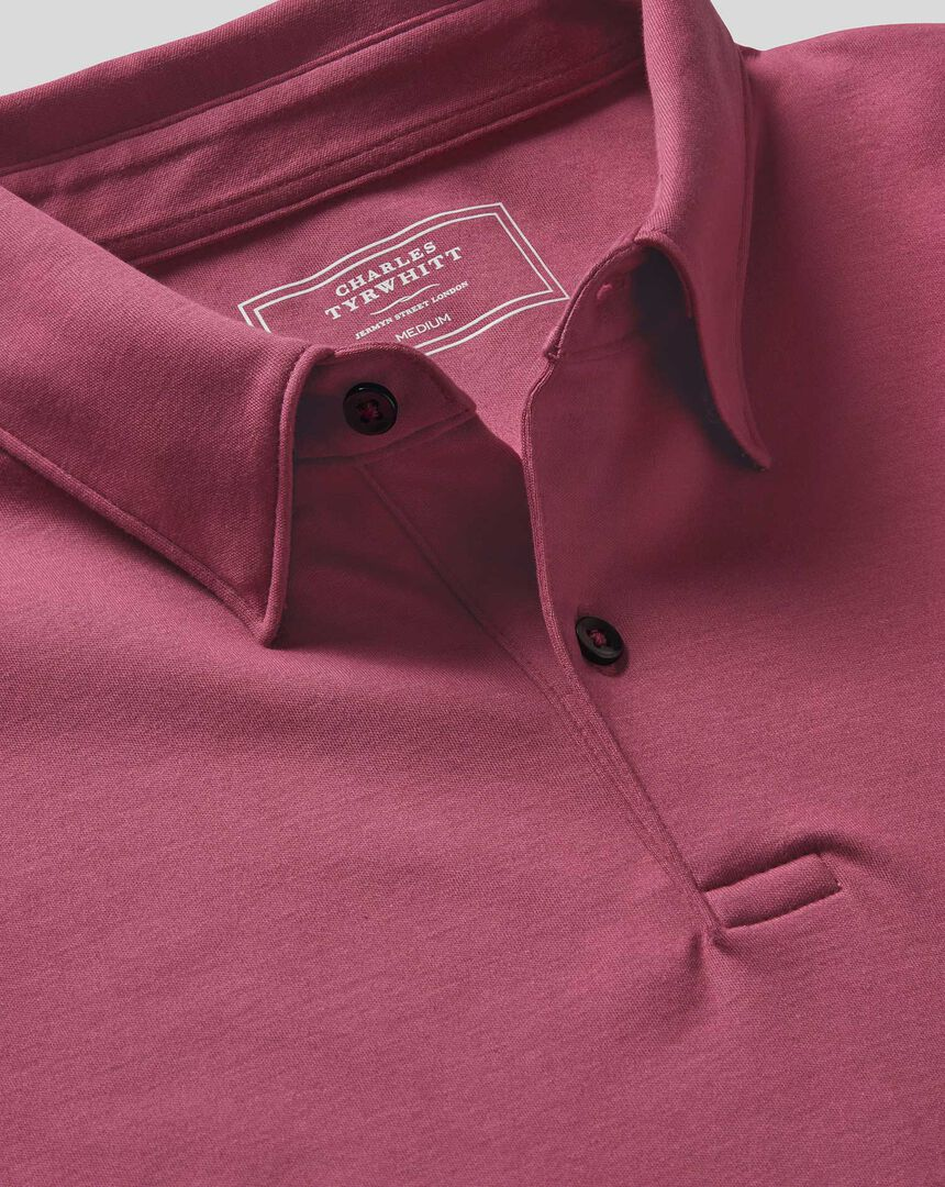 Smart Jersey Polo - Dark Pink