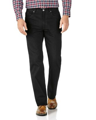 Black classic fit 5 pocket jeans