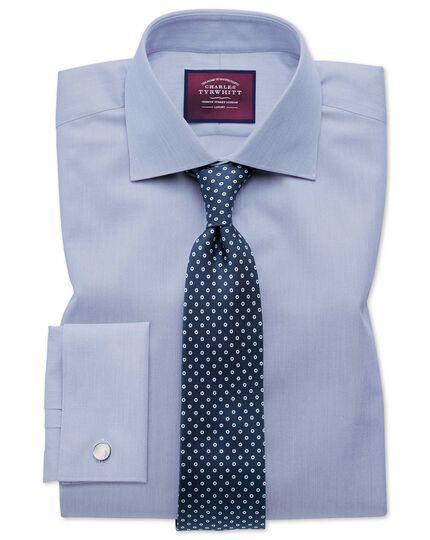 Navy luxury silk English 7-fold tie