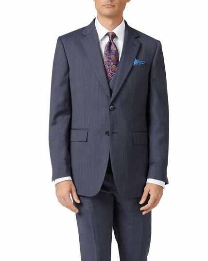 Veste de costume business bleu clair en twill slim fit