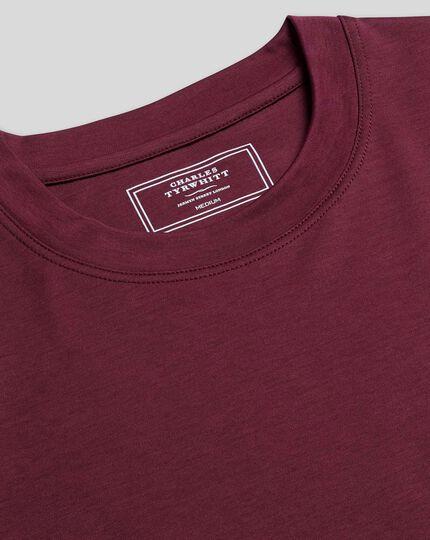 Tyrwhitt T-Shirt aus Baumwolle - Weinrot