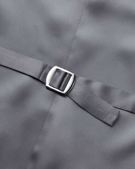 Verstellbare italienische Anzugweste in Silber