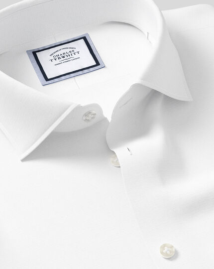 Chemise Softly Smart et col business casual - Blanc
