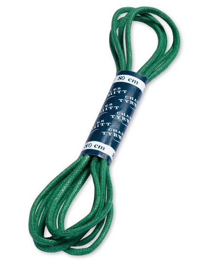 Green shoe laces