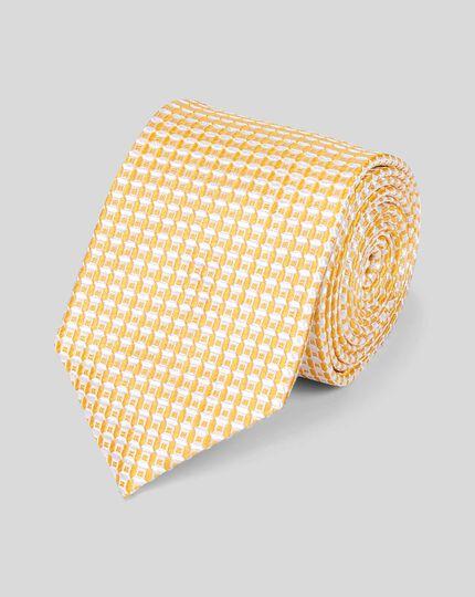Klassische Krawatte aus Seide - Gelb