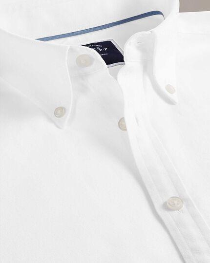 Chemise blanche en oxford délavé slim fit