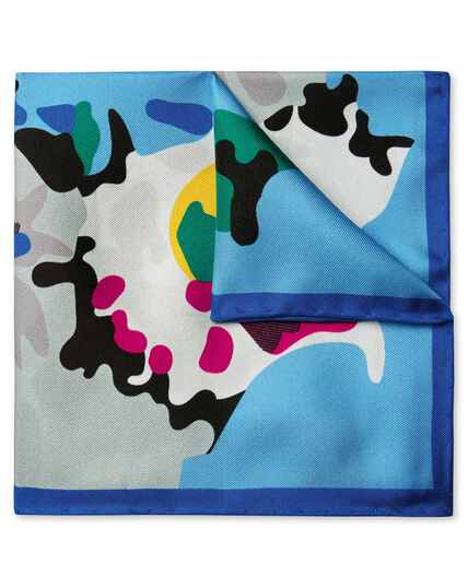 Multi large abstract print pocket square