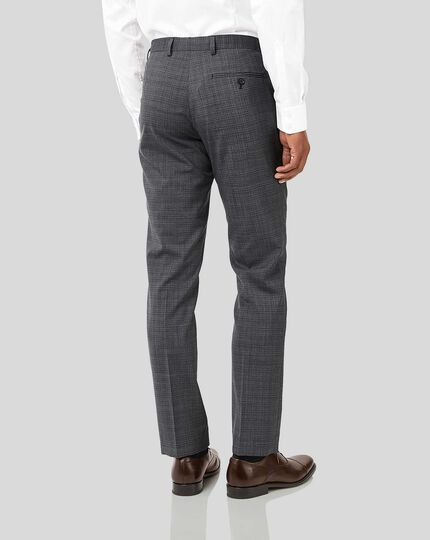 Crosshatch Suit Pants - Grey