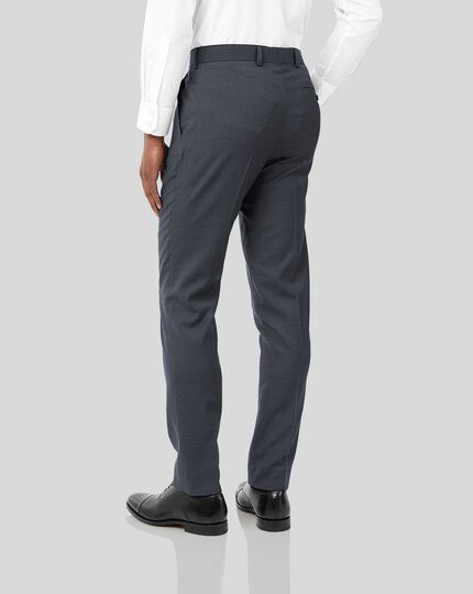 Business Suit Textured Pants - Steel Grey