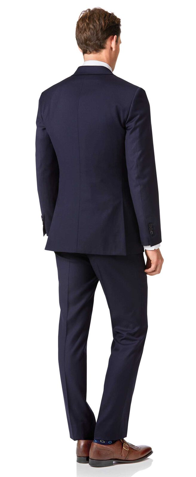 hot sale online 79706 25578 Slim Fit Business Twill-Anzug in Marineblau | Charles Tyrwhitt