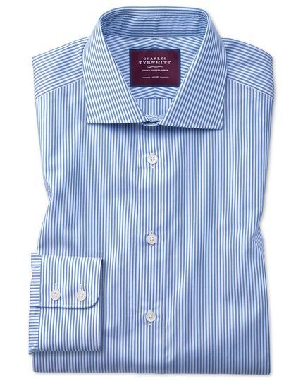 Classic fit blue stripe luxury shirt
