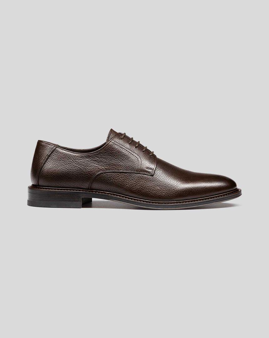Derby-Schuhe mit flexibler Sohle - Braun