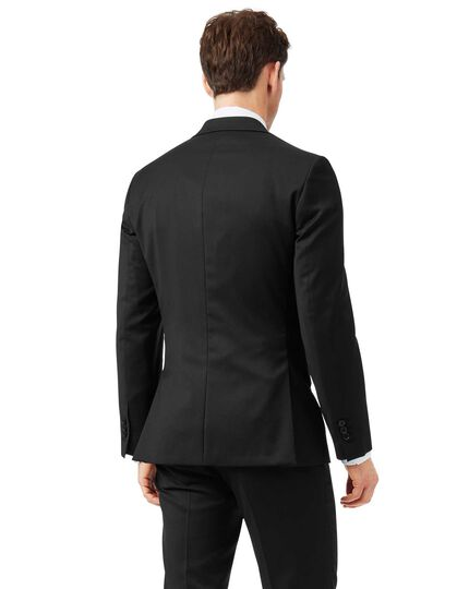 Black extra slim fit Italian natural stretch suit jacket