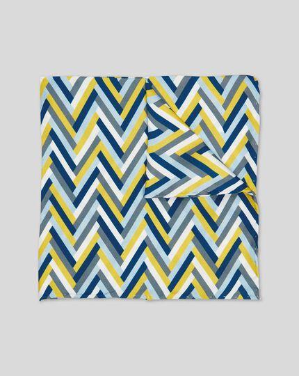 Einstecktuch mit geometrischem Zickzack-Print - Grün & Blau