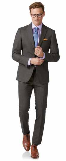 Grey extra slim fit business suit