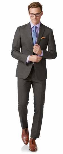 Extra Slim Fit Business Merino-Anzug in Grau